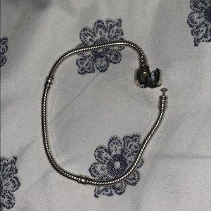 Silver Pandora Moments Snake Chain Bracelet